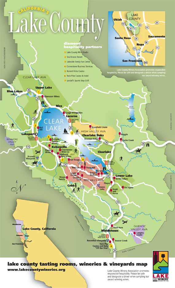 Lake County Winery Map on